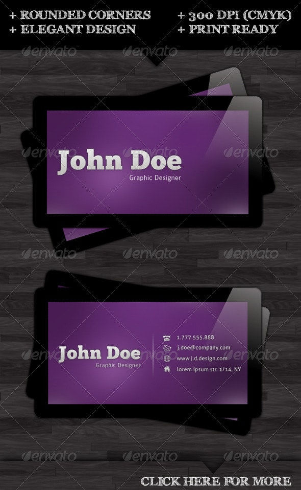 Rounded Glossy Business Card - Creative Business Cards