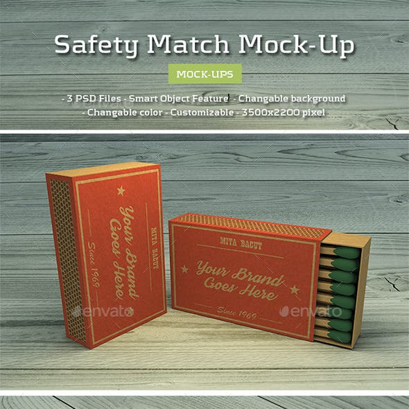 Safety Match Mock-Ups