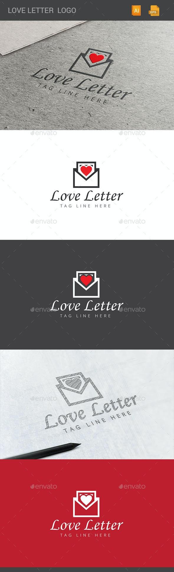 Love Letter Logo - Objects Logo Templates
