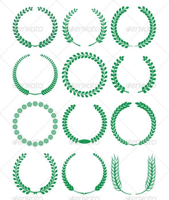 Laurels and wreaths - Decorative Symbols Decorative