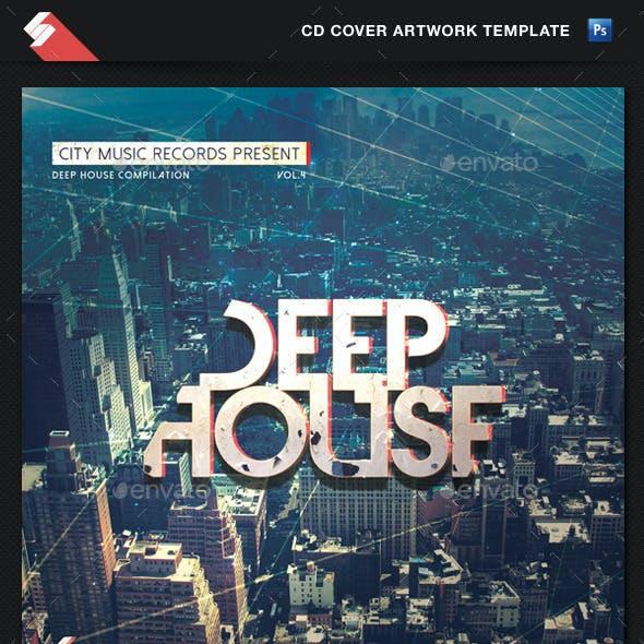 Deep House - CD Cover Artwork Template