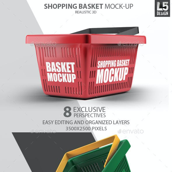 Shopping Basket Mock-Up