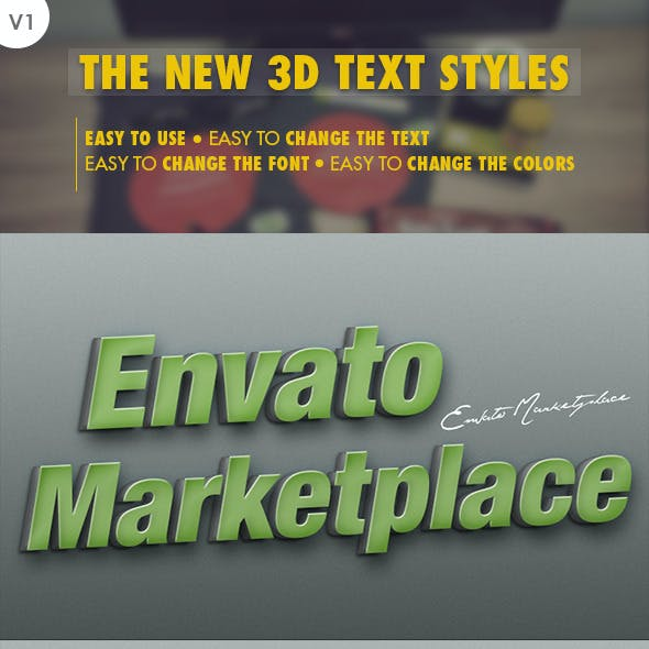 The New 3D Text Styles V.01