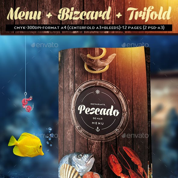Menu + bizcard