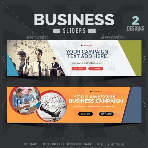 Business Sliders - 2 Designs