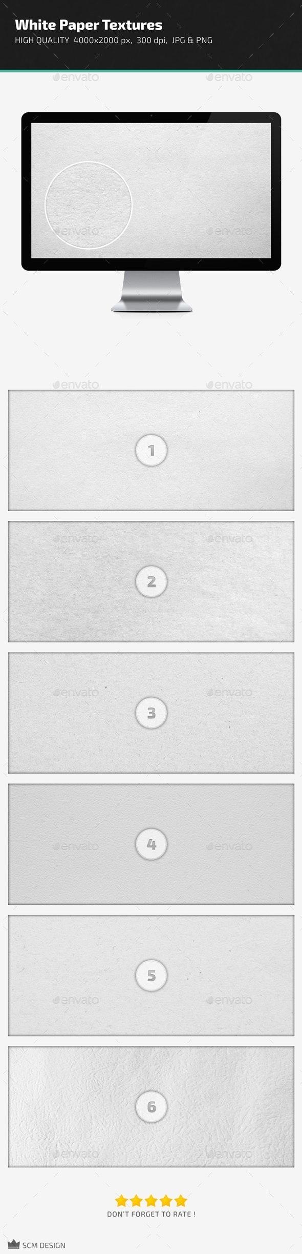 White Paper Textures - Paper Textures