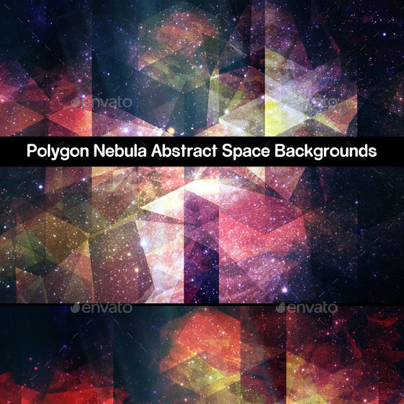 Polygon Nebula Abstract Space Backgrounds