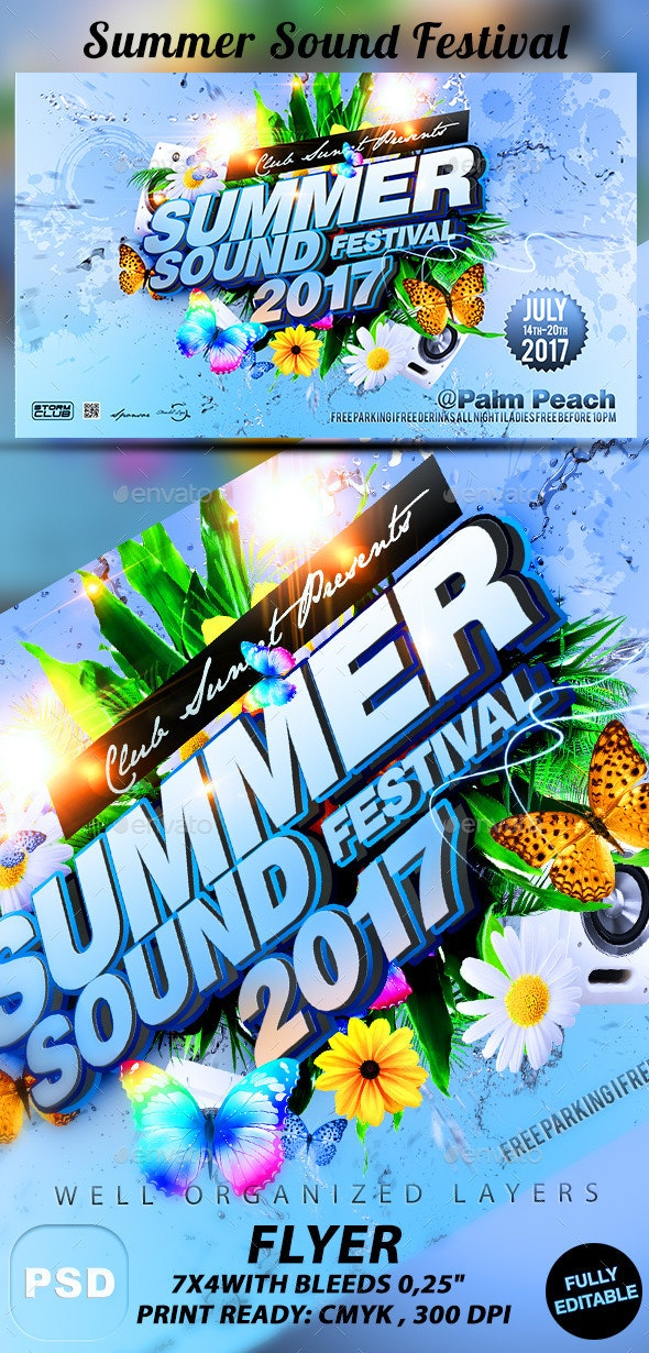 Summer Sound Festival - Events Flyers