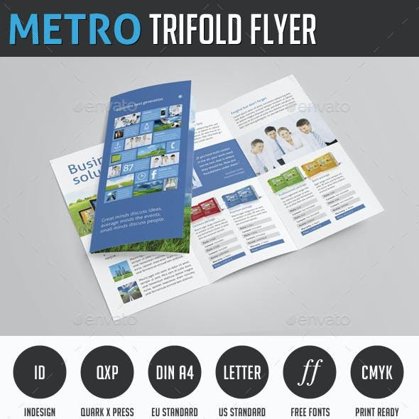 Metro Trifold Flyer