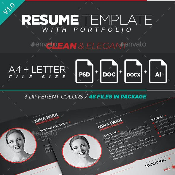 Clean & Elegant Resume