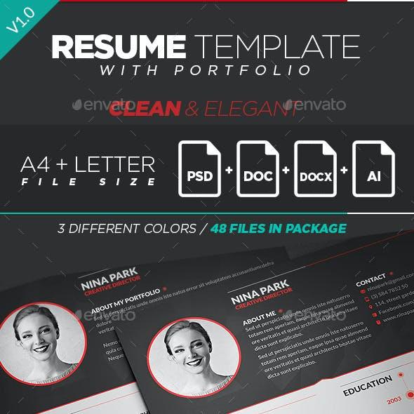 Clean & Elegant Resume