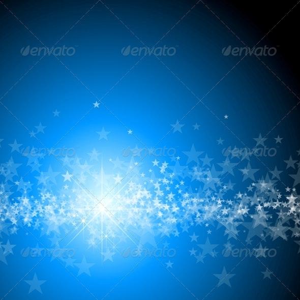 Blue Christmas Background - Backgrounds Decorative