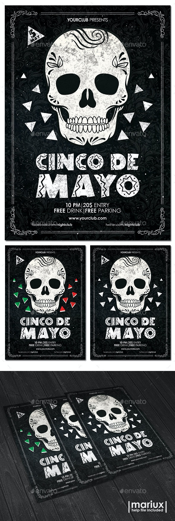 Cinco de Mayo Flyer Poster - Clubs & Parties Events