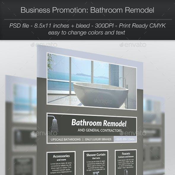 Business Promotion: Bathroom Remodel