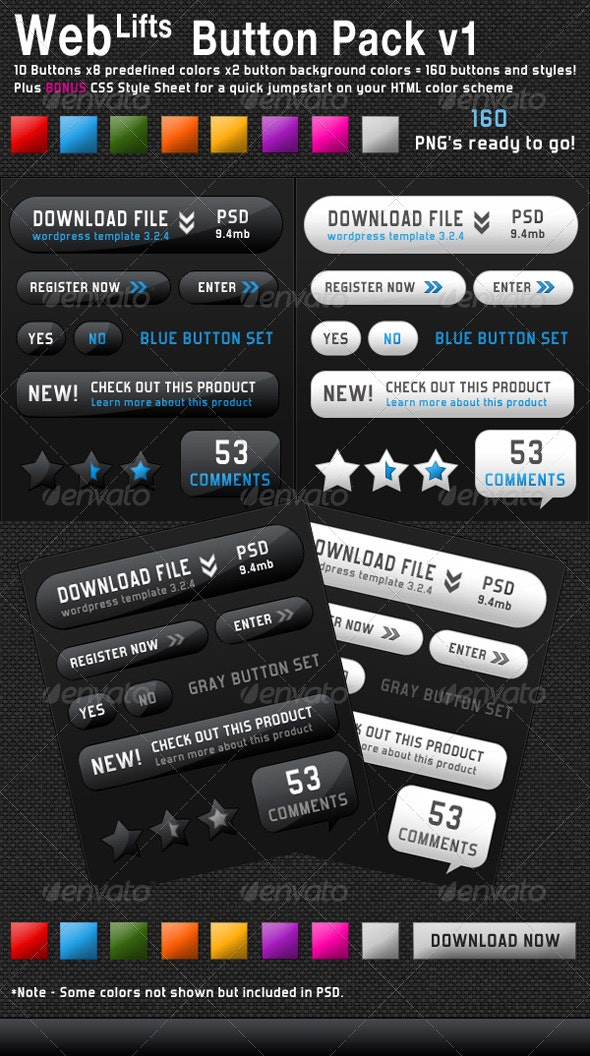 WebLifts Web Buttons Collections v1 - Buttons Web Elements