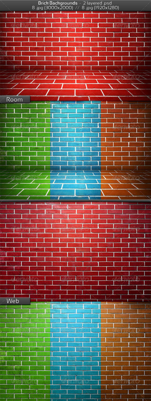 Brick Stage Background - 3D Backgrounds