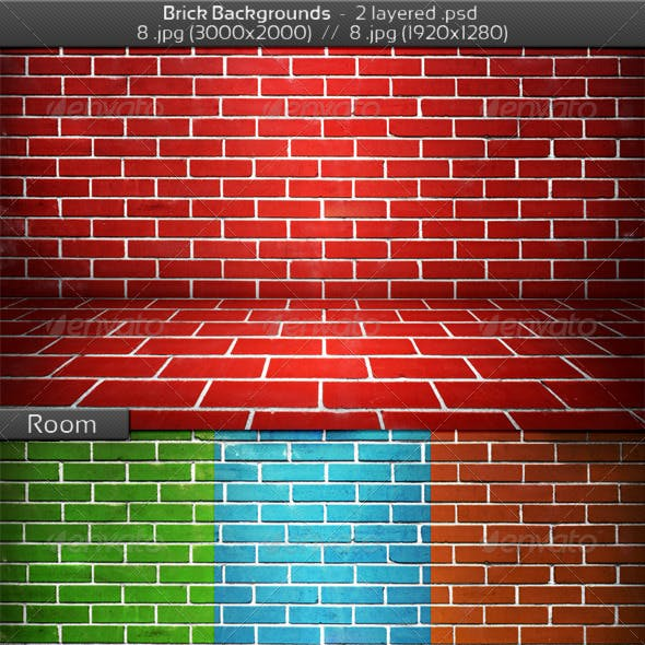 Brick Stage Background