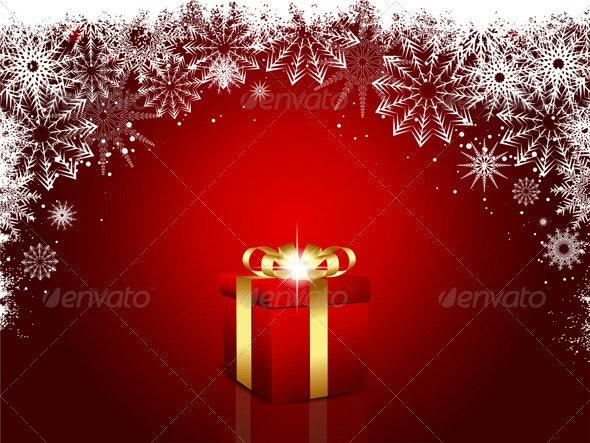 Christmas gift background - Christmas Seasons/Holidays
