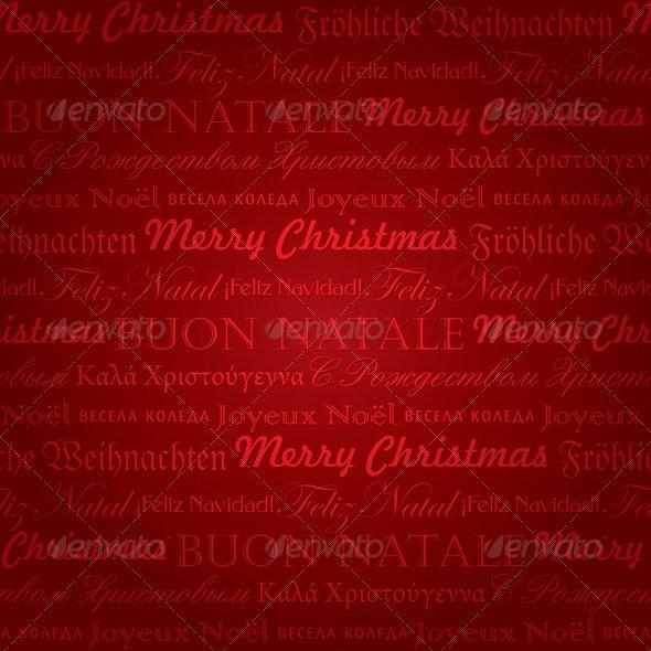 Seamless Christmas Pattern (Vector) - Christmas Seasons/Holidays