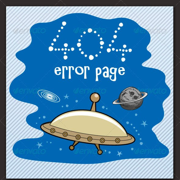 Flying Saucer-404 Error Page