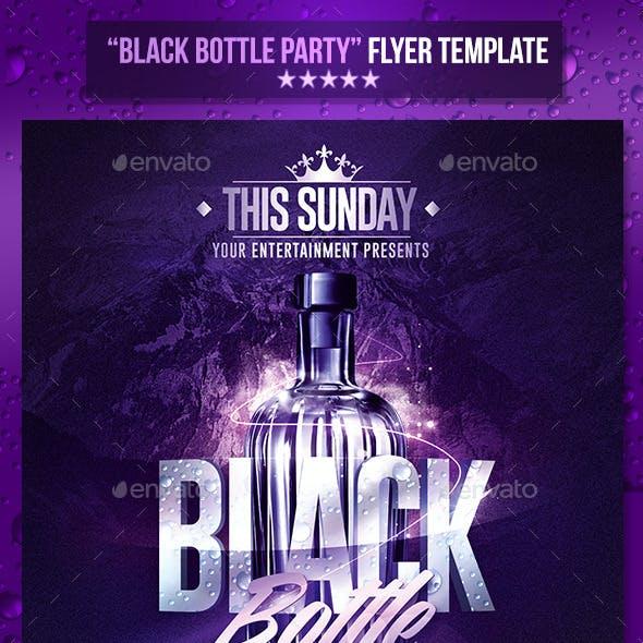 Black Bottle Party | Psd Flyer Template