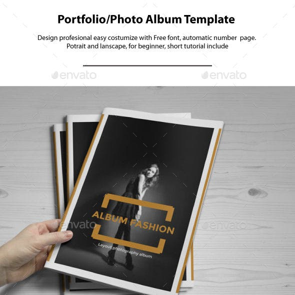 Portrait & Landscape Photo Album Template