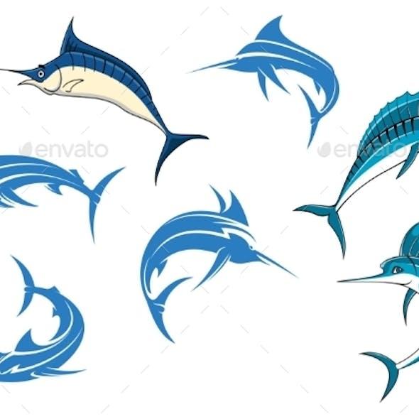 Blue Marlins or Swordfishes