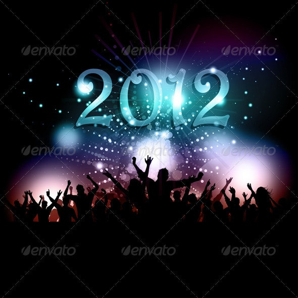 New Years Eve party crowd - New Year Seasons/Holidays