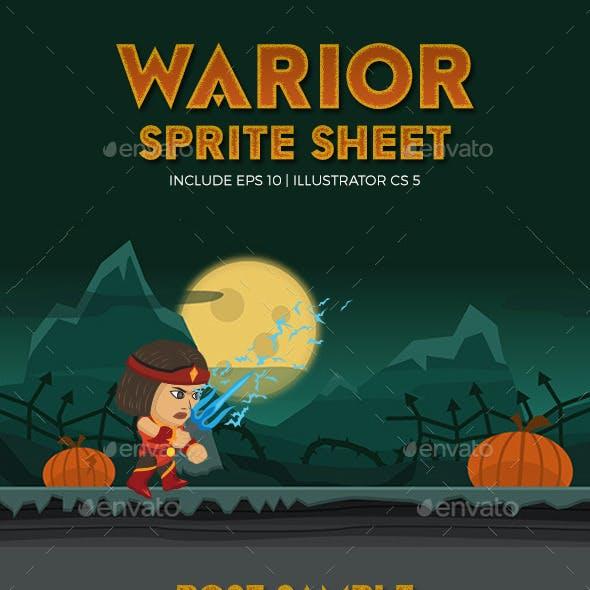 Warior Character Spritesheet