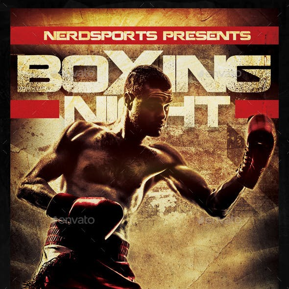 Boxing Night Sports Flyer