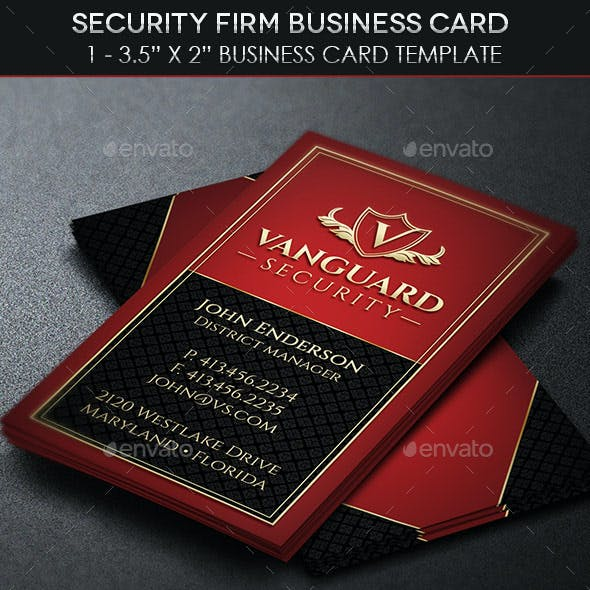 Security Firm Business Card Template