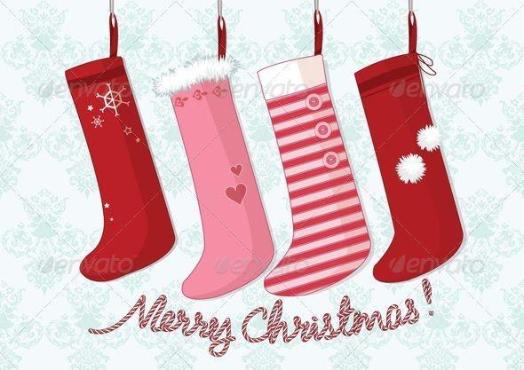 Socks Christmas Card - Christmas Seasons/Holidays