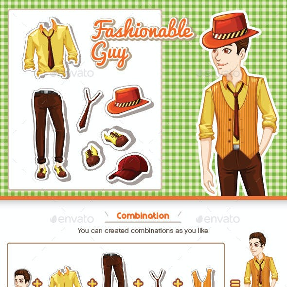 Fashionable Businessman in Office Costume