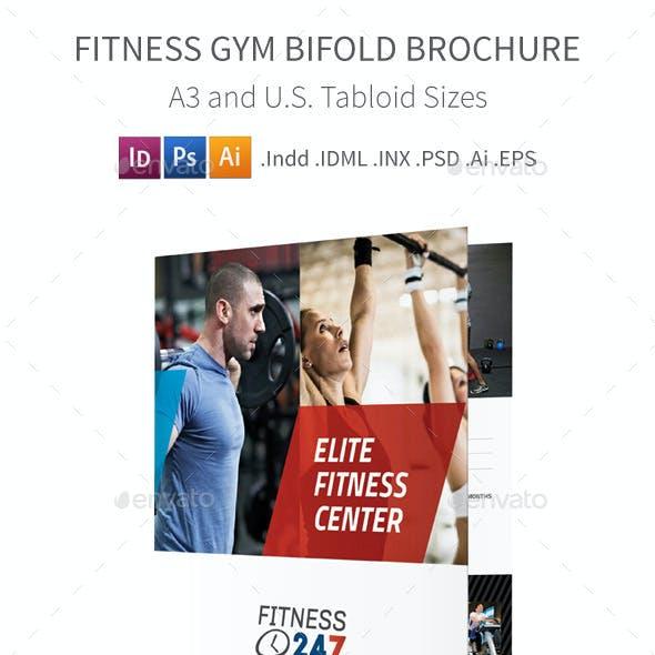 Fitness Gym Bifold / Halffold Brochure