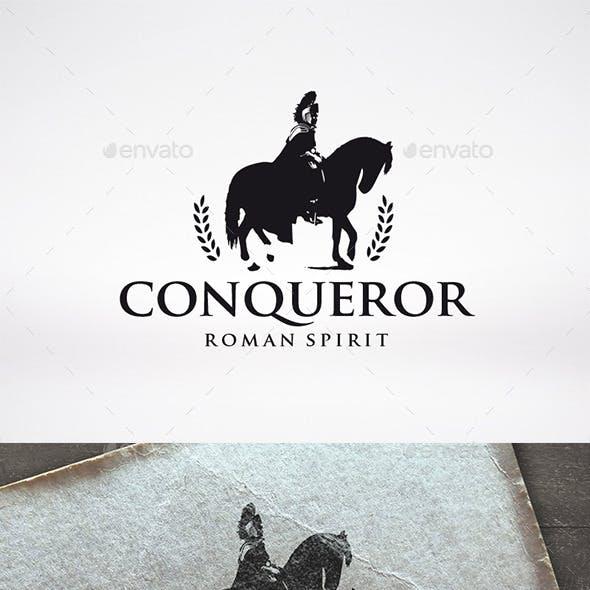 Conqueror Horse Logo Template