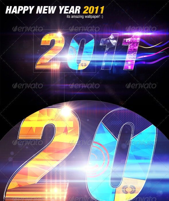 Happy New Year 2011 - Abstract Backgrounds