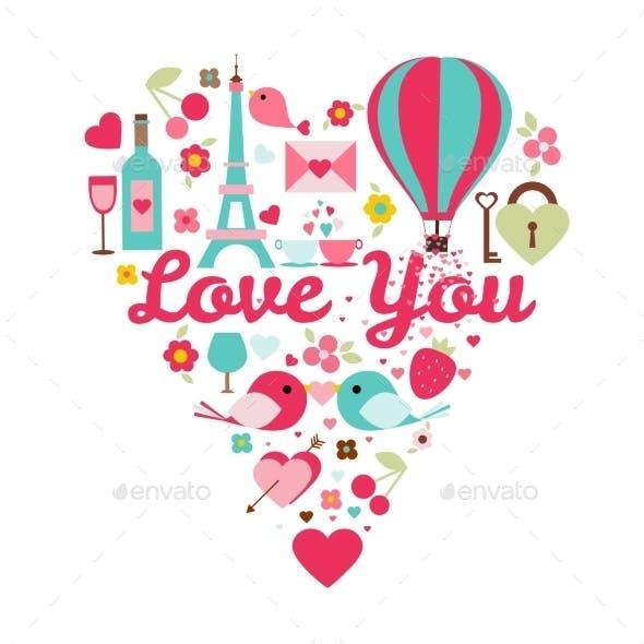 Love You Color Set