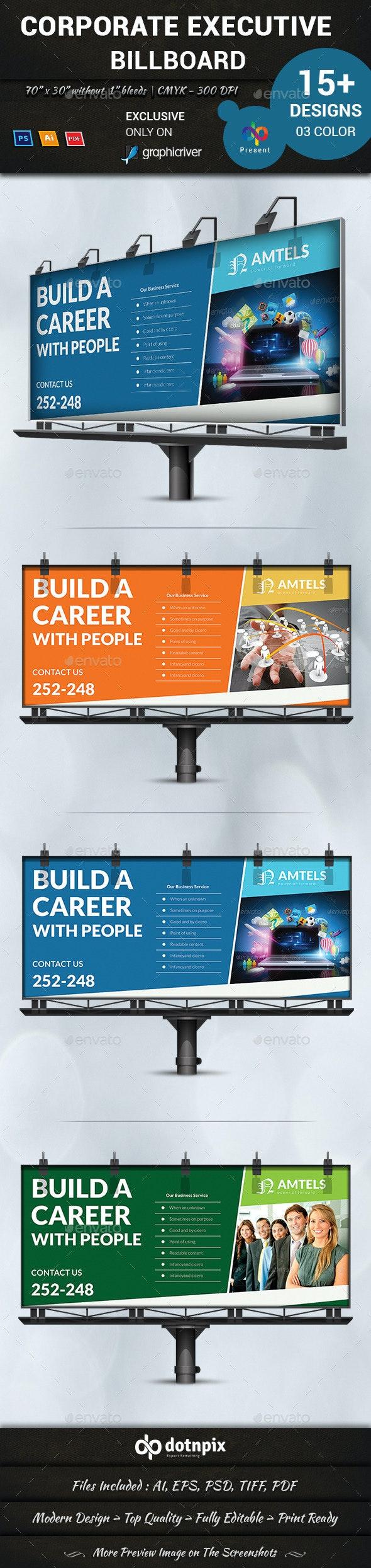 Corporate Executive Billboard - Signage Print Templates