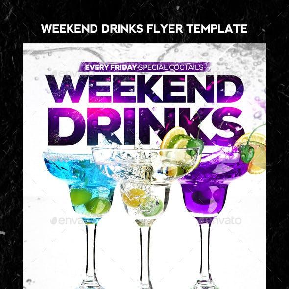 Weekend Drinks Flyer