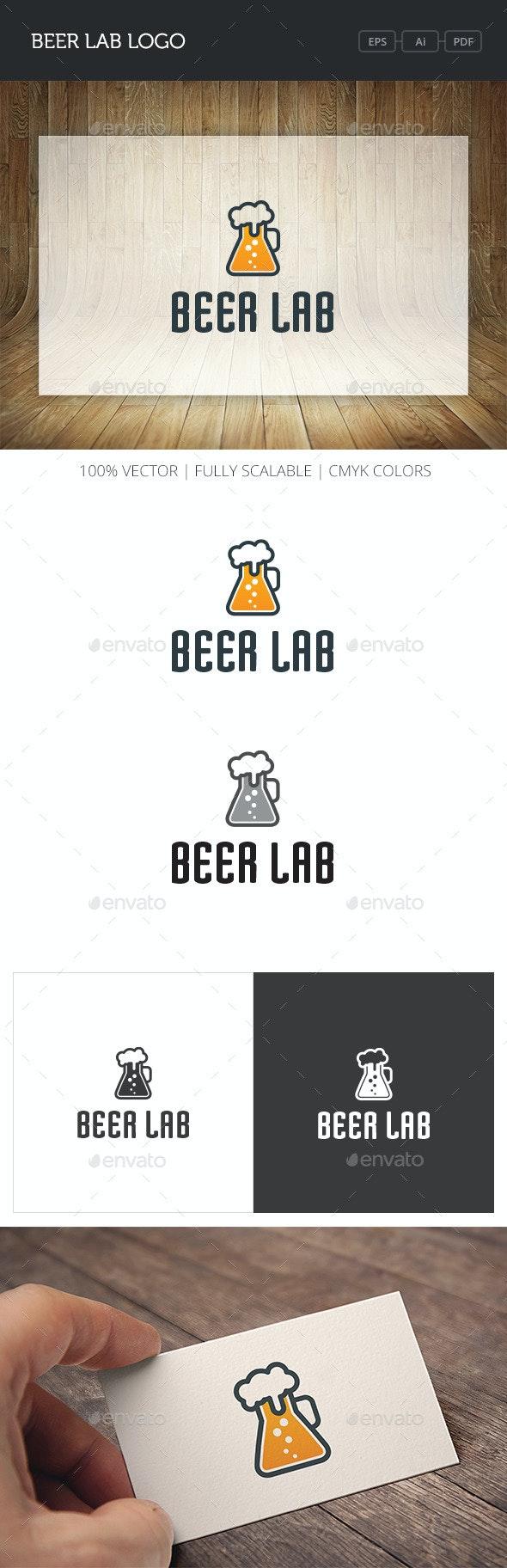 Beer Lab Logo - Food Logo Templates