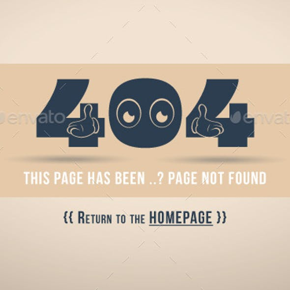 404 Error Page (Oops)