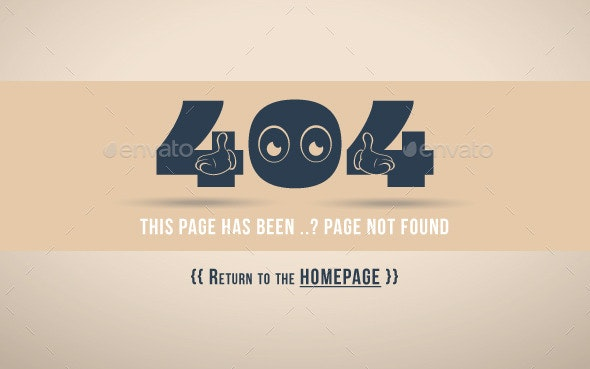 404 Error Page (Oops) - 404 Pages Web Elements