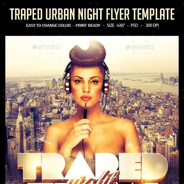 Traped Urban Night Flyer Template