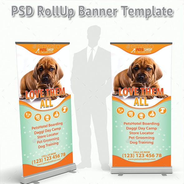 Pets Store Rollup Banner 44