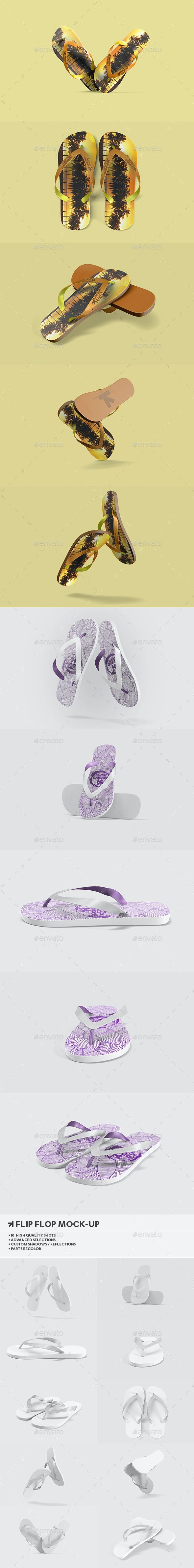 Flip Flops / Sandals Mock-Up - Miscellaneous Apparel