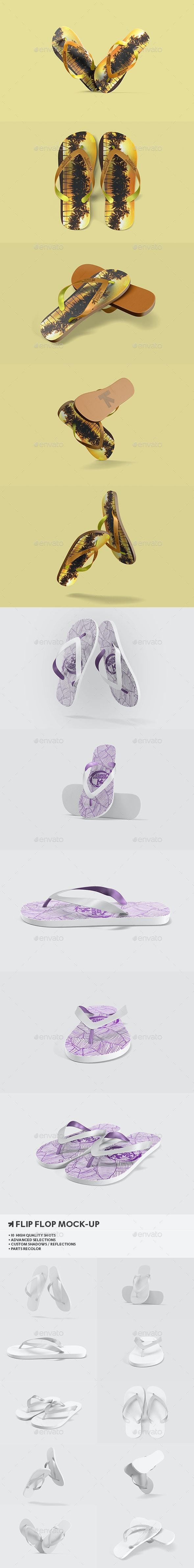 Flip Flops / Sandals Mock-Up - Miscellaneous Apparel