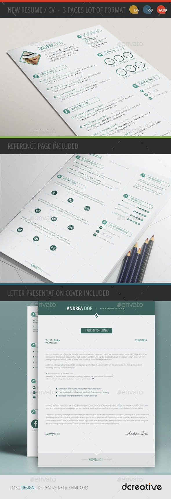 New Resume CV Template - Resumes Stationery