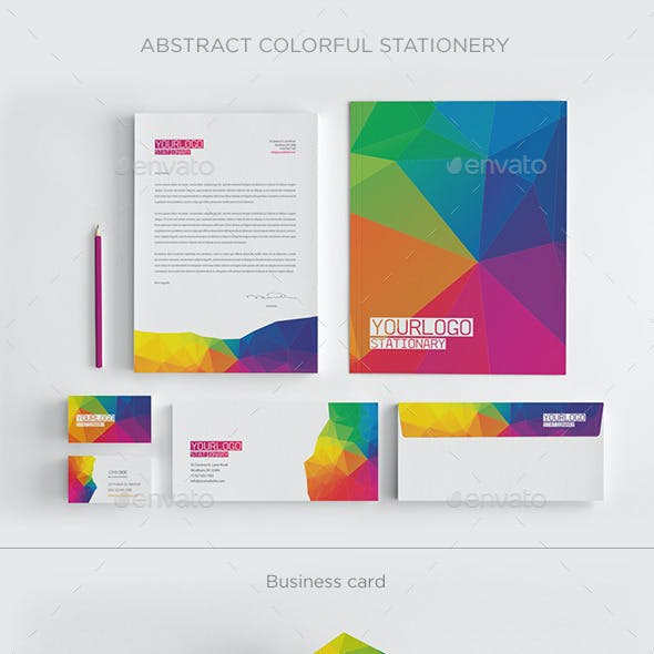 Abstract Colorful Stationery