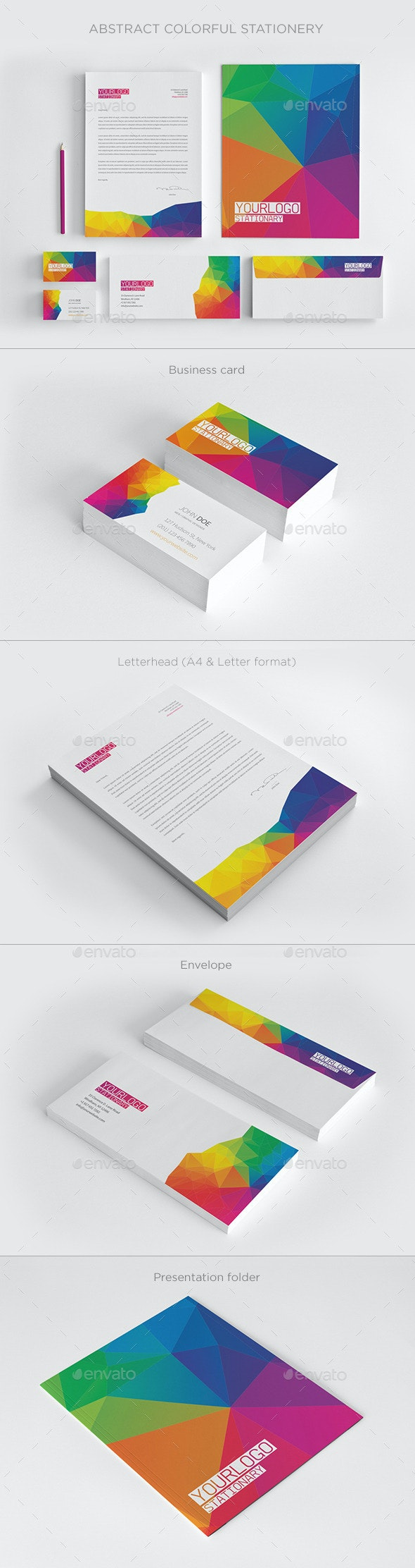 Abstract Colorful Stationery - Stationery Print Templates