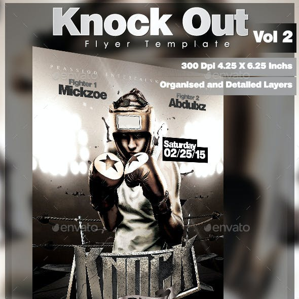 Knock Out Flyer Template Vol 2